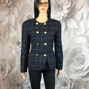 Pendleton Jackets & Coats - double breasted blazer Pendleton red blue check  8